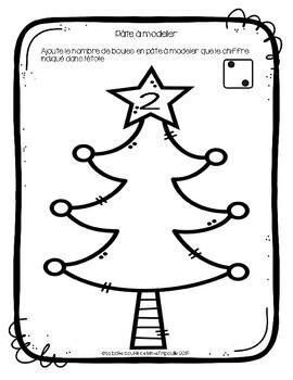Cartes pour pâte à modeler ~ Les boules de Noël ~ | TpT