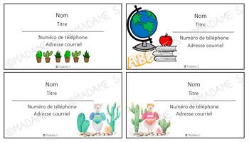 "Cartes professionnelles ""maison"" / Homemade business cards"