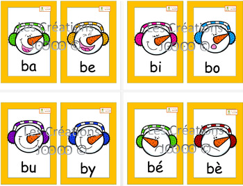 Cartes syllabes simples - Affiches - Hiver