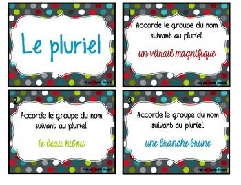 Cartes à tâche - les pluriels (français)