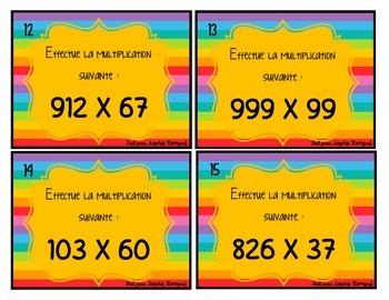 Cartes à tâche - multiplication