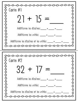 Cartes à tâches – Additions à deux chiffres de gauche à droite