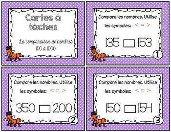 Cartes à tâches - Comparaison de nombres BUNDLE