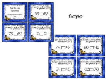 Cartes à tâches - Comparaison de nombres 0 à 100
