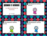 Cartes à tâches - Décomposition de nombres