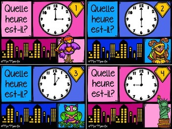 Cartes à tâches - Heure (1er cycle) (Hour Task Cards)