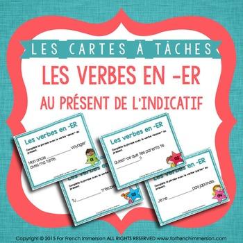 Cartes à tâches - Les Verbes en ER - FRENCH task cards