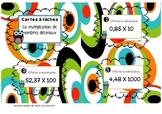 Cartes à tâches - Multiplications de nombres décimaux - Ta