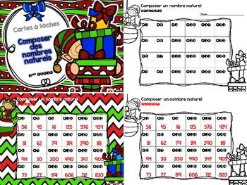 Cartes à tâches - Nombres (Numbers Task Cards)