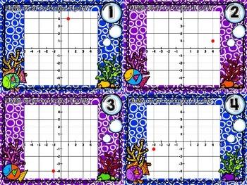Cartes à tâches - Plan cartésien (Cartesian Plane Task Cards)