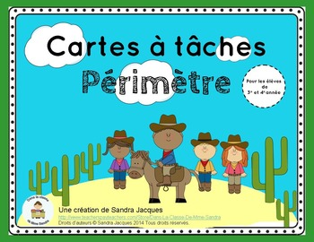 Cartes à tâches – Périmètre (Perimeter Task Cards in French)
