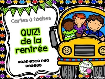 Cartes à tâches - Quiz de la rentrée - Back to School Quiz