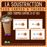 Cartes à tâches - SUBTRACTION within 10 - FRENCH task cards