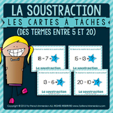 Cartes à tâches - SUBTRACTION within 20 - FRENCH task cards