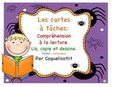 Cartes à tâches : compréhension à la lecture/ L'Halloween