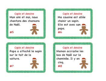 Christmas - Cartes à tâches : compréhension à la lecture/ Noël