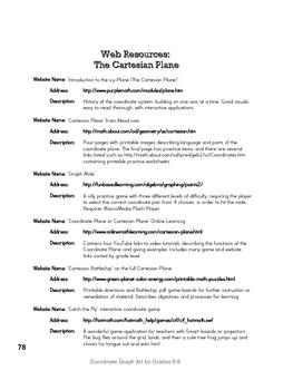 Cartesian Coordinate Plane Webquest Resources