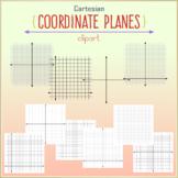 Cartesian Coordinate Planes Clipart - 60 elements