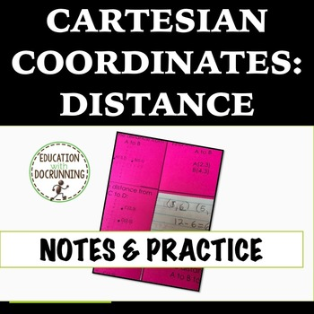 Cartesian Coordinates Interactive Notebook Pages for Findi