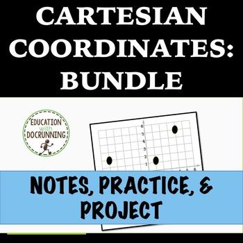 Cartesian Coordinates Resource Bundle  with Notes, Activit