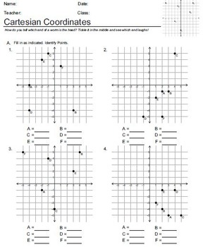 Cartesian Coordinates Worksheets by Educational Network Exchange