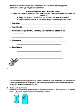 Cartesian Diver with Lesson Plans and Extensions