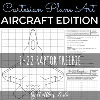 Cartesian Plane Art - F-22 Raptor Freebie