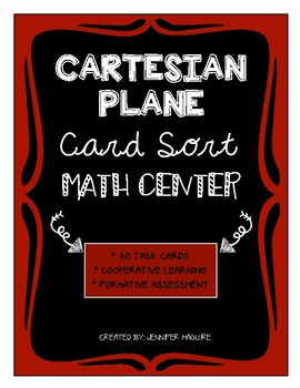 Cartesian Plane - Card Sort MATH CENTER