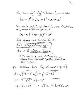 Cartesian Plane and Distance Formula