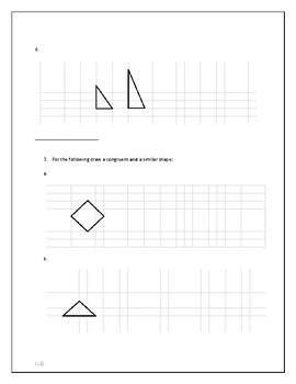 Cartesian Transformations, Similarity, and Congruence Practice Work