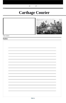 Carthage Courier Blank Newspaper Worksheet