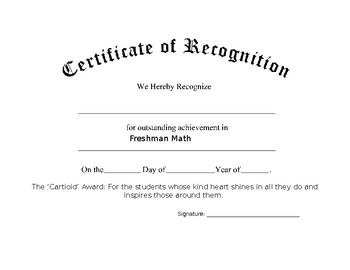 Cartioid Award