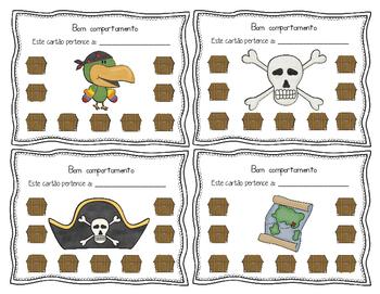 Cartões de bom comportamento para furar *Tema dos Piratas*