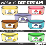 Carton Ice-Cream Food Summer Clipart