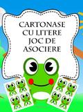 Cartonase cu litere - joc de asociere litere - Broscuta -  limba romana