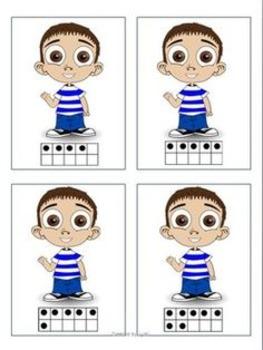 Cartonase cu numere - joc de asociere #2 -  limba romana