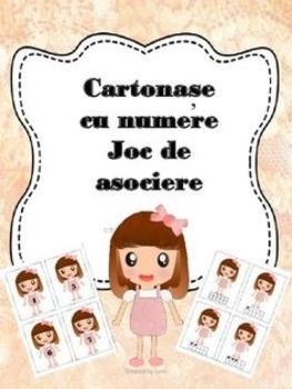 Cartonase cu numere - joc de asociere #1 -  limba romana