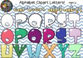 Cartoon Alphabet Clipart Letters (Part 2)