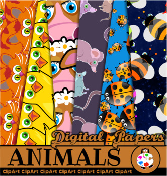 Cartoon Animals - Free Digital Papers