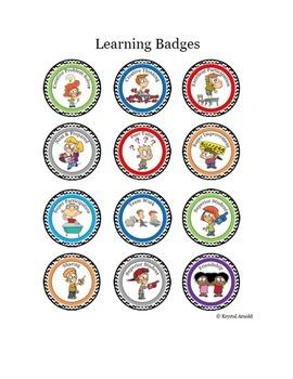 Cartoon Badges for Positive Classroom Behavior - Gamify your classroom!