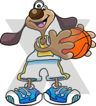 Cartoon Basketball Dog