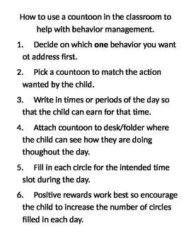 Behavior Chart - Positive - Countoon