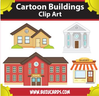 cartoon buildings clipart by mr guera s art studio tpt rh teacherspayteachers com building clipart transparent background buildings clipart png