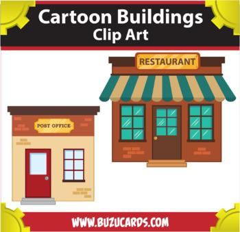 Cartoon Buildings Clipart