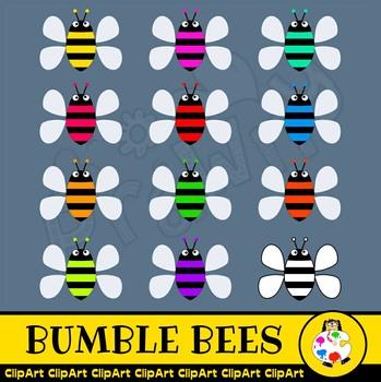 Cartoon Bumble Bee Clipart