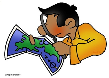 Cartoon Character Explores the 5 Themes of Geography