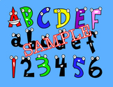 Cartoon Character Letters! Cute Letters with Adorable Faces!