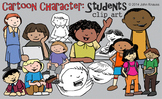 Cartoon Character Students Clip Art