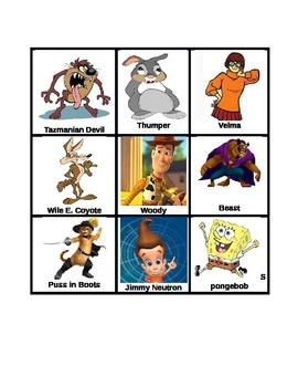 Cartoon Character Traits Card Game