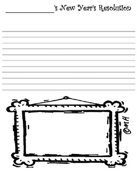Cartoon Character's New Year's Resolution  ---Writing Activity Packet